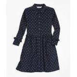 Girls Ruffle Corduroy Shirt Dress
