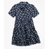 Girls Non-Iron Supima® Cotton Floral Dress
