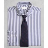 Fitted Dress Shirt, English Collar Blue Stripe | Brooks Brothers