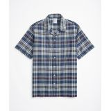 Brooksbrothers Regent Regular-Fit Sport Shirt, Camp Collar Short-Sleeve Madras