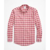 Brooksbrothers Stretch Regent Regular-Fit Sport Shirt, Non-Iron Large Check