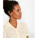 Cotton Eyelet Short-Sleeve Shirt