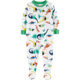 1-Piece Dinosaur Poly Footie PJs