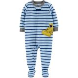 1-Piece Bulldozer Poly Footie PJs