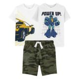 Carters 3-Pack Tees & Short Set