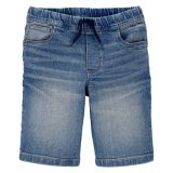 Carters Pull-on Knit Denim Shorts in Natural Indigo Wash