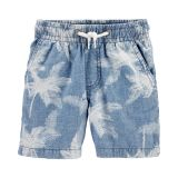 Carters Pull-On Palm Chambray Shorts
