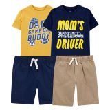 Carters 4-Pack Tees & Short Set