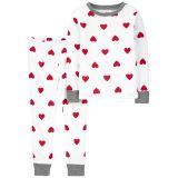 Oshkoshbgosh 2-Piece Heart 100% Snug Fit Cotton PJs