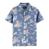 Oshkoshbgosh Hawaiian Chambray Button-Front Shirt