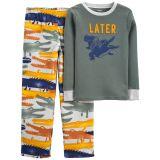 Oshkoshbgosh 2-Piece Alligator Cotton & Fleece PJs