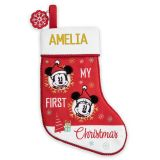Mickey and Minnie Mouse My First Christmas Stocking ? Personalized | shopDisney
