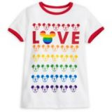 Mickey Mouse Ringer T-Shirt for Adults ? Rainbow Disney Collection