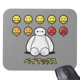 Big Hero 6 Baymax Emoticons Mousepad  Customizable