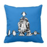 R2-D2 and Porgs Pillow  Star Wars: The Last Jedi  Customizable