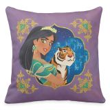 Jasmine and Raja Jewelled Throw Pillow  Aladdin  Live Action Film  Customized