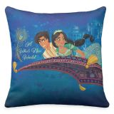 Aladdin ''A Whole New World'' Throw Pillow  Live Action Film  Customized
