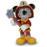 Mickey Mouse Fireman Jeweled Figurine by Arribas Brothers | shopDisney