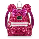 Minnie Mouse Sequin Mini Backpack by Loungefly - Imagination Pink   shopDisney