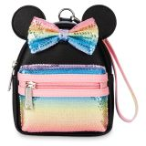Minnie Mouse Sequined Mini Backpack Wristlet by Loungefly  Pastel Rainbow