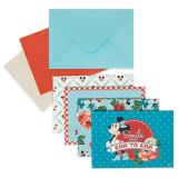 Mickey and Minnie Mouse Retro Notecard Set