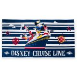 Captain Mickey Mouse and Friends Beach Towel  Disney Cruise Line