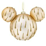 Mickey Mouse Icon Glass Ornament  Gold Drops