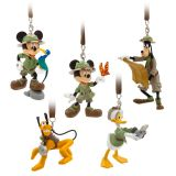 Mickey Mouse and Friends Safari Figurines Ornament Set  Disney's Animal Kingdom