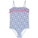 Printed sun protection swimsuit