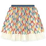Embroidered tulle skirt GG