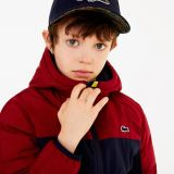 Lacoste Boys Hooded Color-Blocked Quilted Jacket