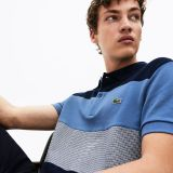 Lacoste Mens Regular Fit Paneled Color-Blocked Polo Shirt
