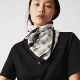 Lacoste Women's Print Cotton and Silk Voile Scarf