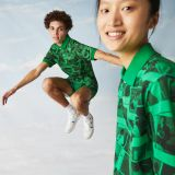 Lacoste Unisex LIVE Polaroid Collaboration Loose Fit Printed Polo