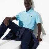 Lacoste Mens SPORT Golf Striped Tech Jacquard Jersey Polo Shirt