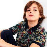 Lacoste Boys Camo Print Cotton Pique Polo