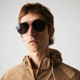 Lacoste Pilot Shape Metal Ultra-Thin Sunglasses