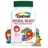Centrum Natural Beauty Biotin and Vitamin E Supports Healthy Appearance with Whole Food Blend, 60 Day Supply (60 Capsules)