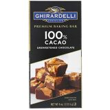 Ghirardelli 100% Cacao Unsweetened Chocolate Baking Bar Case Pack