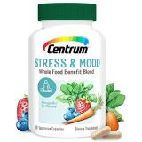 Centrum Stress and Mood, Ashwagandha, Magnesium, Whole Food Supplement Supports Healthy Mood, 30 Day Supply(60 Capsules)