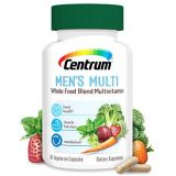 Centrum Whole Food Multivitamin for Men, with Vitamin C, Vitamin D, Zinc, Non-GMO+Vegetarian + Gluten Free Supplement, 30 Day Supply-60 Capsules