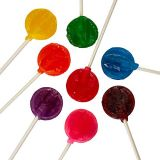 Kicko Assorted Colorful Lollipops - Pack of 140 Citrus Hard Candy Suckers for Party Favors, Cake Decorations, Novelty Supplies or Treats for Halloween, Christmas, Baby Showers