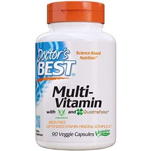 Doctors Best Multi-Vitamin, Formulation Fully Optimized for Absorption, Vitamins, Minerals, Antioxidants & Nutrients, Vegan, Gluten Free, 90 Veggie Caps