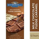 Ghirardelli Milk Chocolate Fudge Caramel bar, 3.5 oz (Pack of 12)