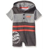 Calvin Klein Baby Boys French Terry Hooded Romper