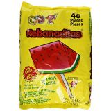 Vero Rebanaditas Paletas Sabor Sandia Hard Candy Chili Covered Lollipops 40 pcs