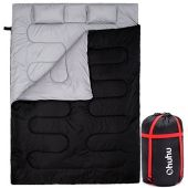 Ohuhu Double Sleeping Bag With 2 Pillows And A Carrying Bag, Waterproof Lightweight 2 Person Sleepin