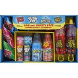 Bazooka Candy Brands, Lollipop Variety Pack w/ Assorted Flavors of Ring Pop, Push Pop, Baby Bottle Pop, and Juicy Drop Pop (18Count Box)