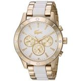 Lacoste Womens Charlotte Analog-Quartz Watch with Stainless-Steel Strap, Gold, 20 (Model: 2000963)
