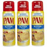 Pam GM Concepts Pam Butter Flavor Cooking Spray, 5 oz 3pack